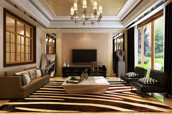 石家庄业之峰装饰-上山间独栋别墅300平米后现代风格装修效果图