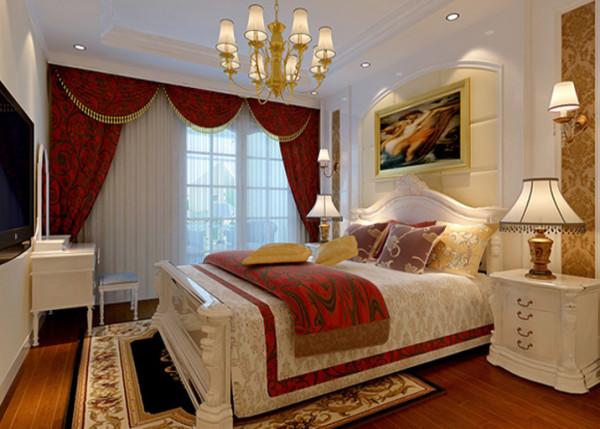 背景墙的设计更能突出床头背景的主题,增添了卧室的华贵。
