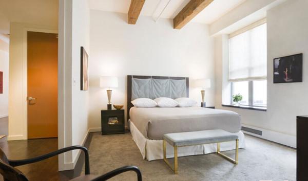 卧室背景墙 床头柜 床