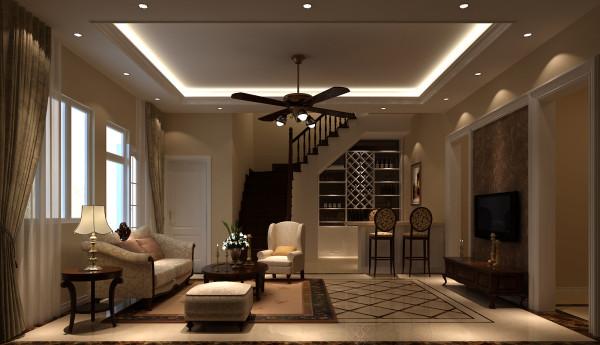 楼梯间细节图 高度国际装饰设计