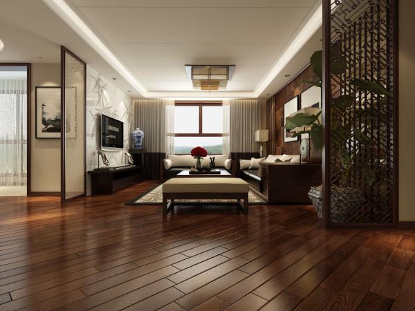 客厅:整体色调简洁大方,背景墙一整面石材雕刻竹子图案,含蓄的体现了中式的元素,简约而不简单;沙发背景采用马毛壁纸与镜子木线的衔接,亦真亦幻、亦古亦今。