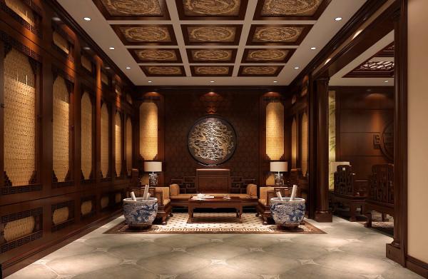 地下茶室效果细节图 成都高度国际装饰设计