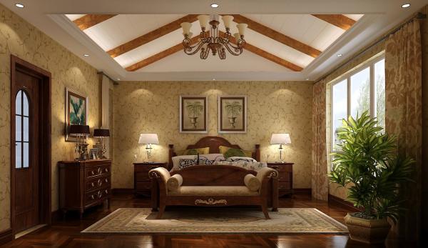 二层卧室效果细节图 成都高度国际装饰设计
