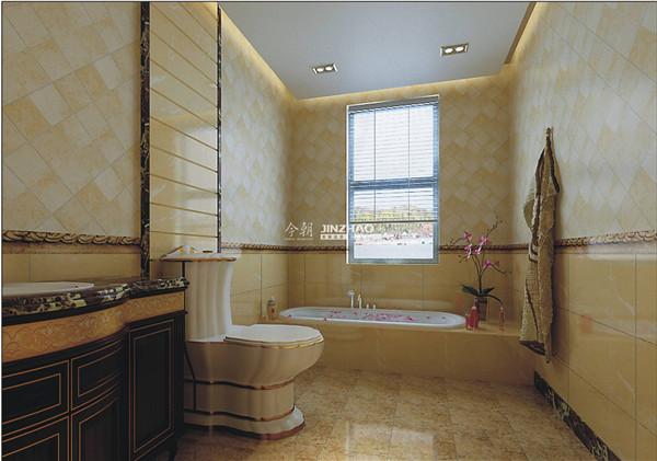 从坐便器来看已经能看出富态感,浴缸的情调升华了整个房间的温度。