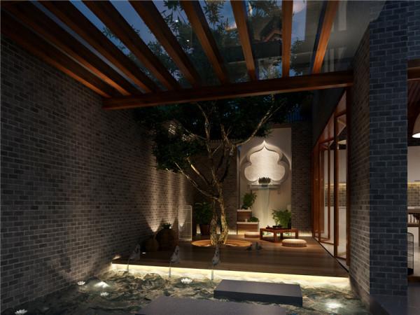 北京别墅装修——庭院