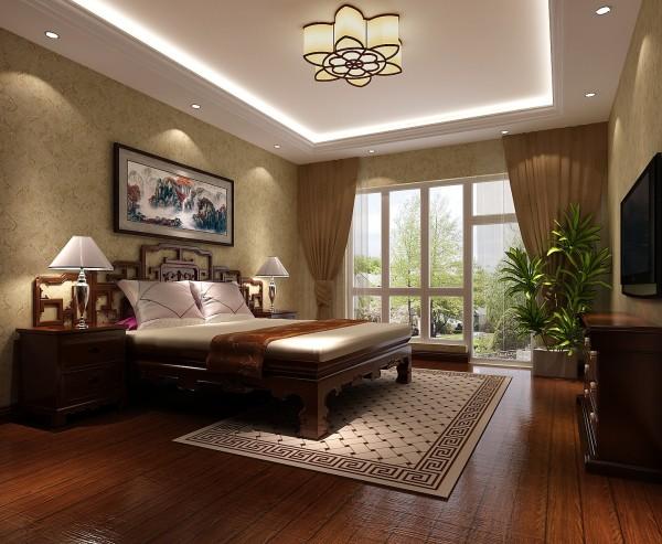 一层主卧室效果细节图 成都高度国际装饰设计
