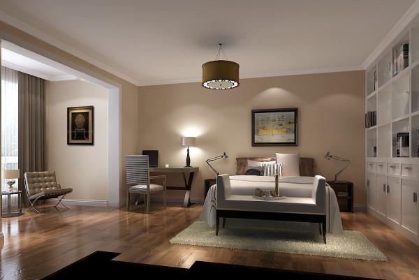 书房兼客房效果细节图 成都高度国际装饰设计