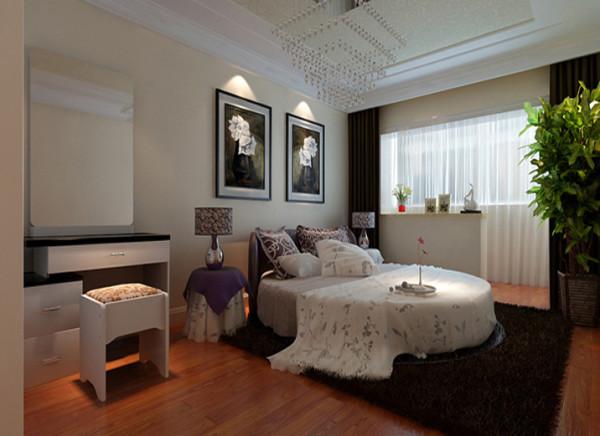 设计理念:卧室整个室内采光效果以及通风效果极佳。卧室沿用暖色装饰,卧室里采用的连体概念的设计,给人以宽敞的感觉。