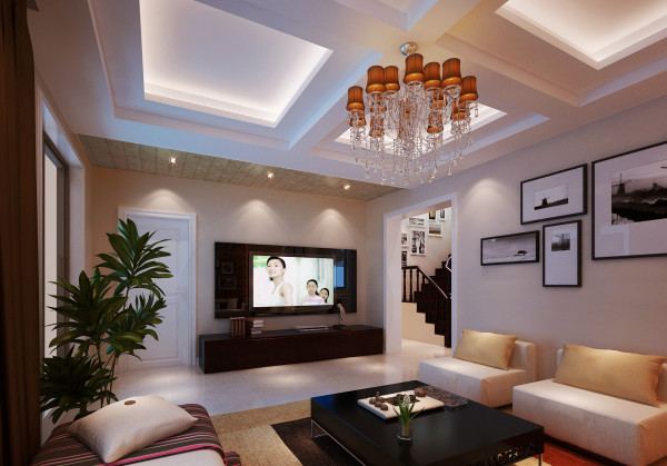 【成都实创装饰】中大君悦金沙花园—现代简约风格—整体家装—客厅装修效果图 亮点:轻装修重装饰的理念,更完美的突出了业主的品味。 简单的现代家居和造型充满一种现代感。