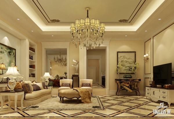 后现代主义高端别墅装修——客厅