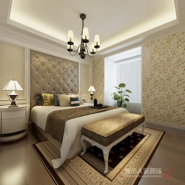 山水岭秀117平米卧室设计效果图