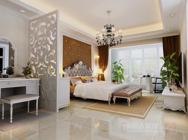 首创漫香郡240平米户型一楼卧室设计效果图