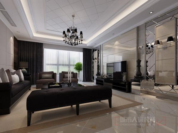 一楼客厅电视墙 造型上以简单为主增加现代感与空间感,整体感觉简约大气优雅,使屋主产生强烈的家的归属感。