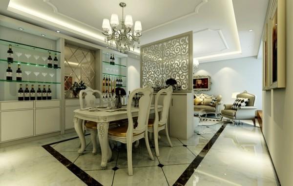 餐厅整体简单大方,主要是以软装配饰为主,来体现效果。