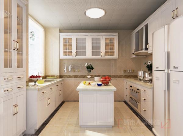一楼厨房 首创漫香郡240平米户型一楼厨房设计效果图