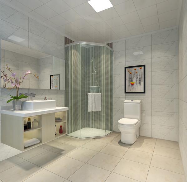 北京城建世华龙樾三居室135平米户型卫生间效果图展示