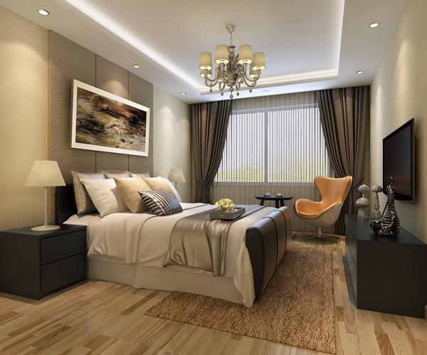 北京城建世华龙樾三居室135平米户型卧室效果图展示