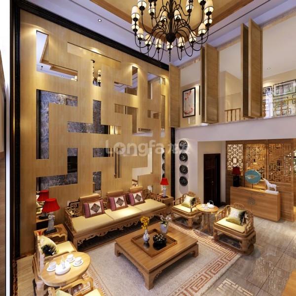 客厅设计解析:一楼客厅设计充满着现代的随意性与古典气息,甚有特色。由橡木墙板配合银镜造型的沙发背景墙在客厅设计中最引人注目,与现代的茶几沙发、中客厅空间层次分明、静谧淡雅。
