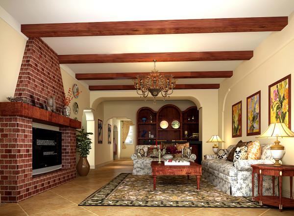 业主是一位年轻的生意人,根据其意愿设计了这个整合美式风格和现代气质的住宅空间,整个空间处理老到、稳重。传达出了设计师对空间的理解和所要表达的意思。