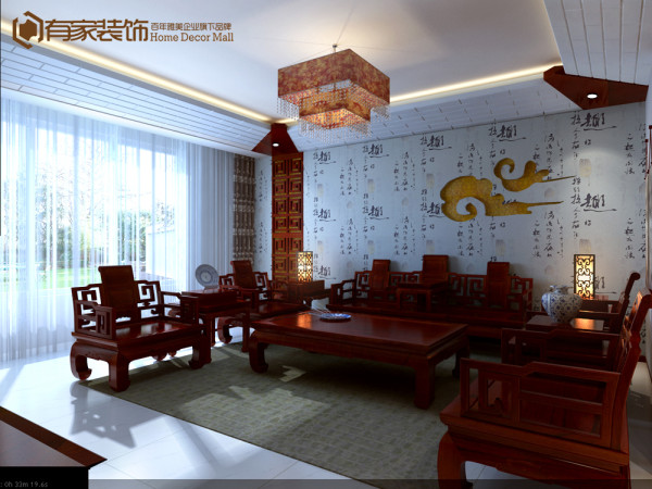 中式风格,很多都会运用到红木家具。