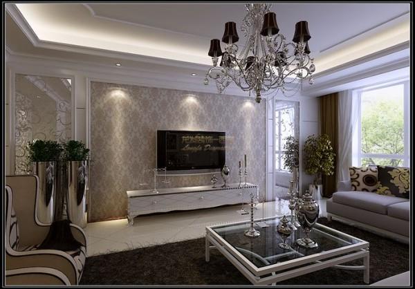办案定位简欧,在简约的基础之上局部点缀欧式元素,墙面大量运用暗花壁纸及线条,壁纸的拼接,和材质的局部对比,基调以亮色调为主