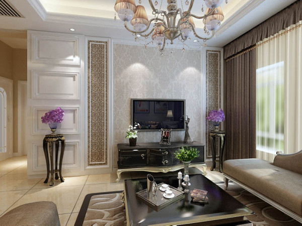 """本案为海河华鼎标准层户型两室两厅一厨两卫80㎡的户型。这次的设计风格定义为""""欧式风格""""。"""