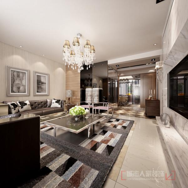 华宇凤凰城140㎡样板间--客厅设计效果 将特别的宁静和舒适的氛围相结合,让住宅显示出迷人的时尚感和空间感。