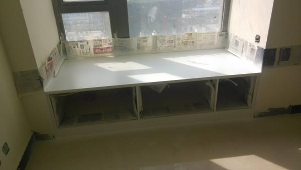 超凡装饰装修设计-升龙又一城简约装修设计-卧室飘窗做的橱柜飘窗柜