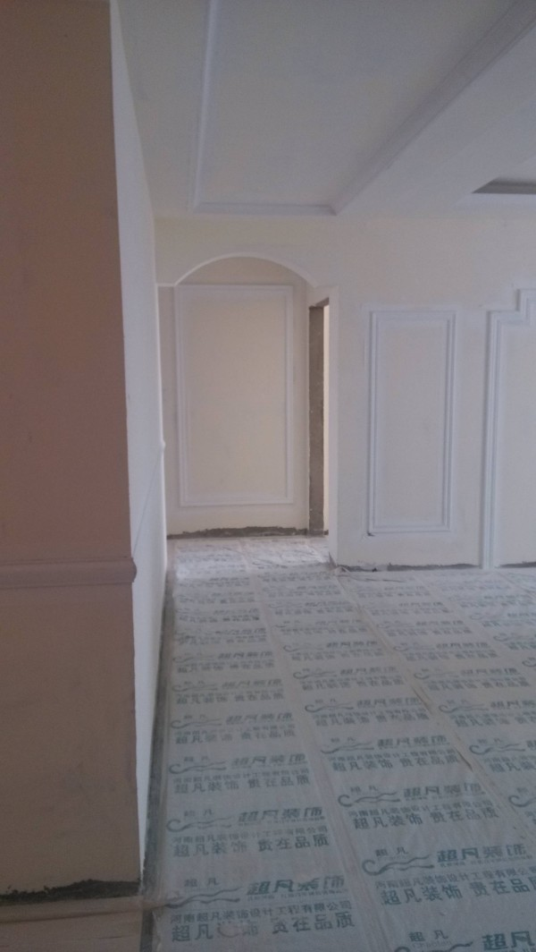 超凡装饰装修设计-升龙又一城简约装修设计-在入户门看的整体布局和施工效果