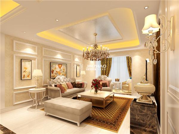 沙发背景墙的挂画以清新的颜色给视觉全新的美感,色彩效果更强烈