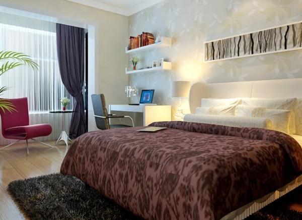 设计理念: 卧室在色彩方面秉承了简约现代风格的时尚和品质,与灯光的结合,从而提升了主人的身份与品位。