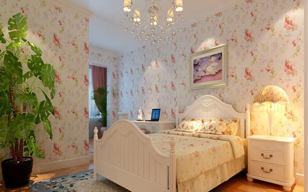 由于田园风格本身给居住人带来的了轻松舒适,所以也就造就了田园风格设计在当今时代的复兴和流行。在卧室采用碎花壁纸与白色实木家具结合,贴近自然又不失浪漫。