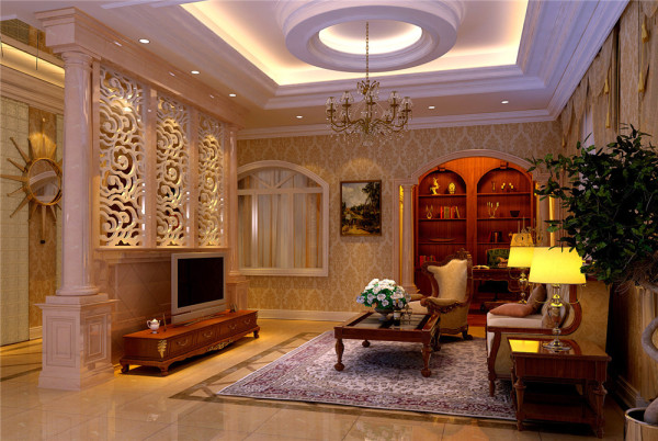 主人偏爱欧式风格,而且要的是带有奢华,宫殿式的感觉。
