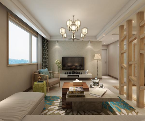 房子的设计采用现代简约设计,在简约之中又带着一些艺术气息,让整个房子多了几许人文气息。设计简单的电视墙让整个客厅多了些许质朴感