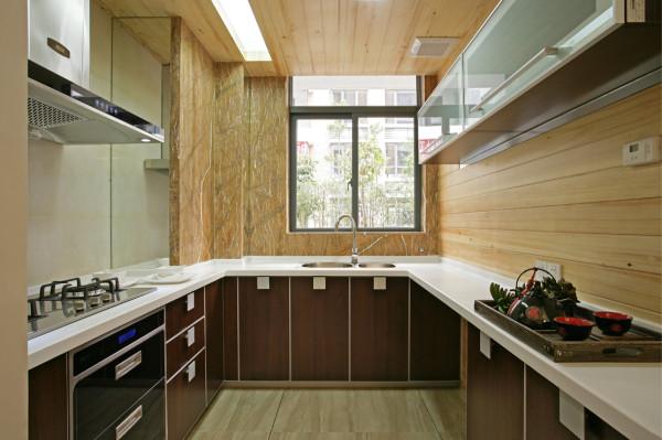 现代 中式 别墅 厨房图片来自北京装修设计o在现代与中式的结合——新
