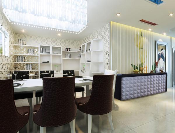 金辉悦府-两居室-100平米-简约风格装修-餐厅装修效果图