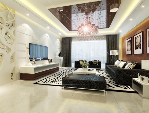 金辉悦府-两居室-100平米-简约风格装修-客厅装修效果图