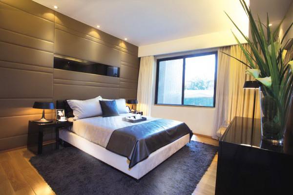 金辉悦府-两居室-100平米-简约风格装修-卧室装修效果图