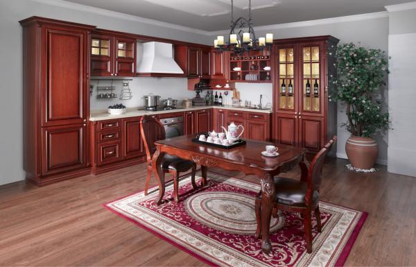 创作司米·花神橱柜用做旧的工艺、古典的风格,回复百年咖啡馆的历史与沉淀。