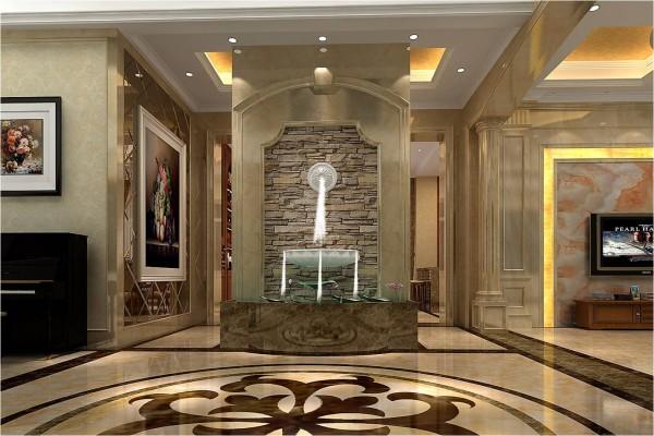 欧式 别墅 玄关图片来自国安居装饰在华贵典雅与时尚现代结合的分享