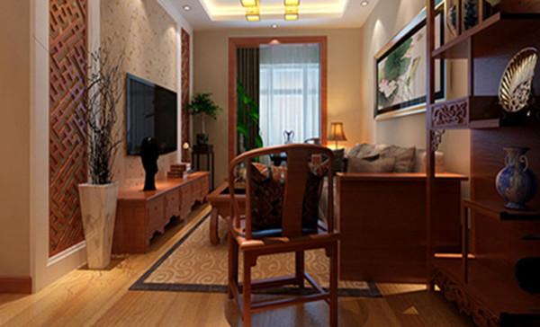 设计理念:客厅结合客户自身的需求与习惯以时尚客厅是传统与现代居室风格的碰撞,设计师以现代的装饰手法和家具,结合古典中式的装饰元素,来呈现亦古亦今的空间氛围。