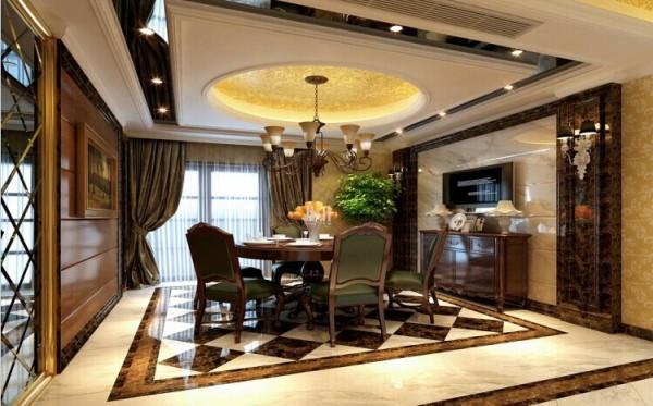舒适的家具,体现贵族色彩的用料的选择,多种氛围的灯光,让用餐的心情更愉悦。
