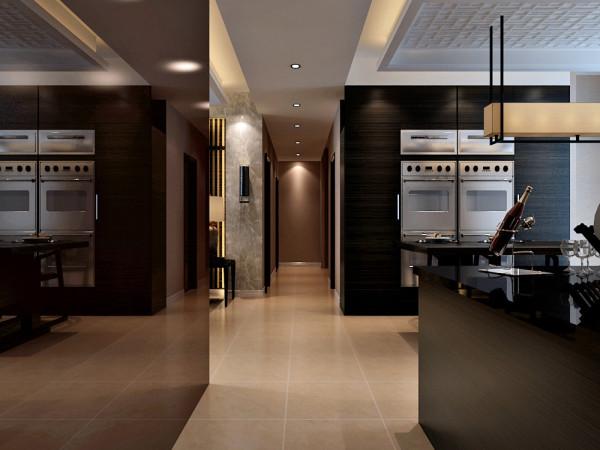 室内布置中也有既趋于现代实用,又吸取传统的特征,例如传统中式的茶几、餐桌;传统木质吸顶灯具和墙面装饰画,配以现代的沙发等等。客厅的电视背景墙是以字体壁纸全铺的一面墙搭配一些装饰品而形成的电视背景墙。