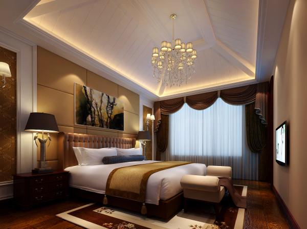 亮点:原主卧室顶面不规则并且空间很高很空旷,现在设计后的吊顶使整个空间看起来不显空旷又不降低室内的高度,整个卧室的色调以柔和的驼色为主,使得整体氛围轻松又温馨。