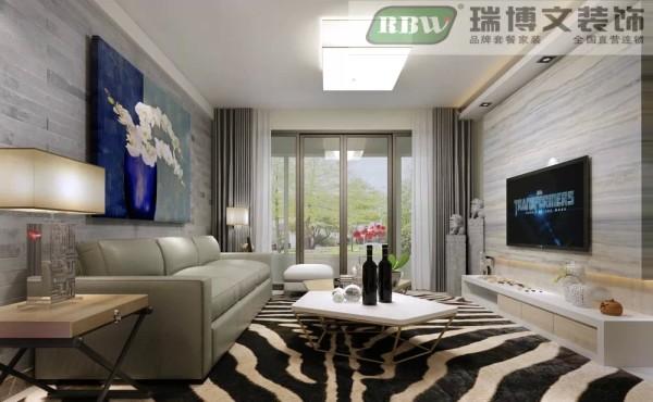 客厅的沙发背景墙主要是用了中式的壁纸贴谱搭配的现代的中式的挂画,电视请选用的是现代感十足的大理石样式的搭配,是整体的风格简单大方。但 是单个拿出来又是比较有特色的中国风。