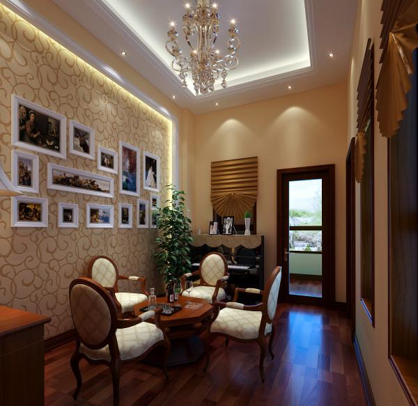 亮点: 休闲区在整个室内空间的二层,二层是老人与孩子的空间,利用此处一个小空间腾出一个为孩子学习钢琴的地方,周末偶尔有三五个好友在此聚会聊天喝茶,不亦乐乎。