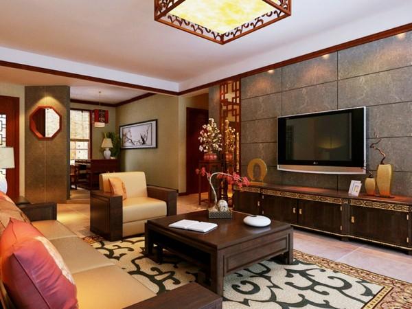 149平米三居室新中式风格效果图