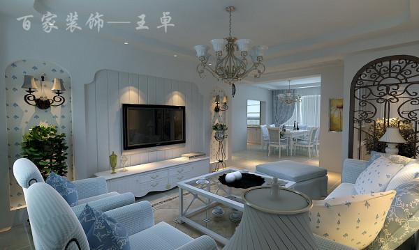 设计师把设计风格最终定位为韩式田园风格,突出格调清新亮丽,要求外观雅致休闲,空间色彩以白色为主,线条随意但注重干净干练。客厅是日常待客区域