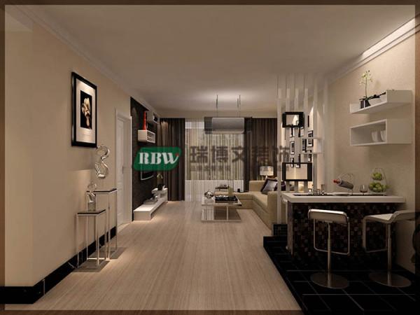 客厅桑拿板拐角的装饰,既起到装饰的效果,简单中看出时尚的品味