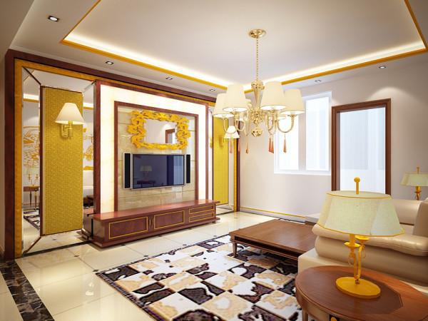 客、餐厅区域选择了微晶石地砖,既容易清洗,又使得整个空间显得更大些。沙发选择了棕色的沙发,整体效果浑然天成,木色的茶几使得整体效果更加归于自然,既大方又气派。